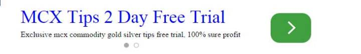 Free Trial Mcx Commodity Tips